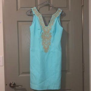 NWT Blue Lily Pulitzer Suzette Shift Dress Sz 0